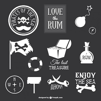 Collection of pirate icons