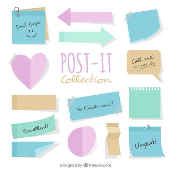 Collection of post-its with different designs