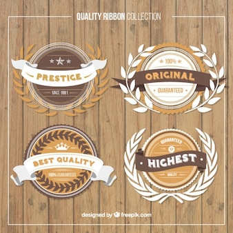 Collection of quality premium label in vintage style