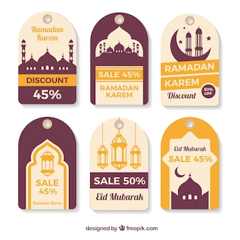 Collection of ramadan labels