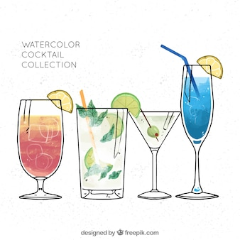 Collection of refreshing cocktails
