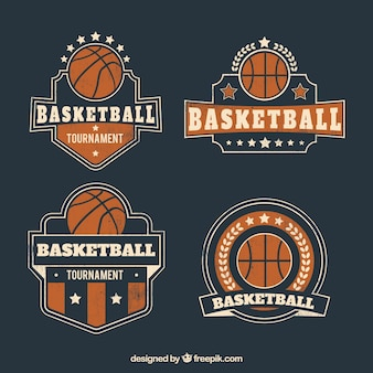 Collection of retro basketball badges