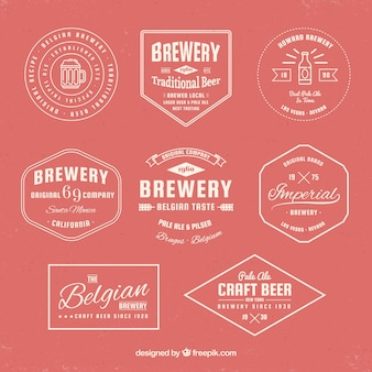 Collection of retro beer badge