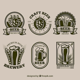 Collection of retro beer stickers