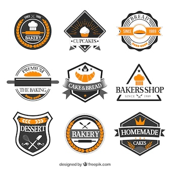 Collection of retro cafe stickers