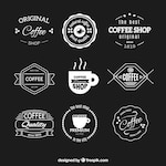 Collection of retro cafeteria stickers