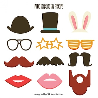 Collection of retro elements for photo booth