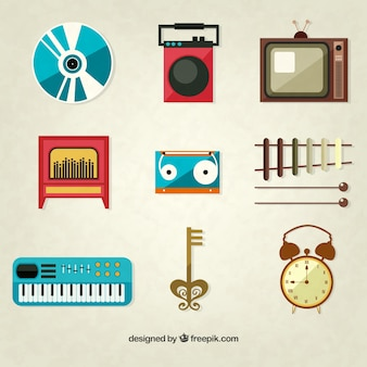 Collection of retro elements