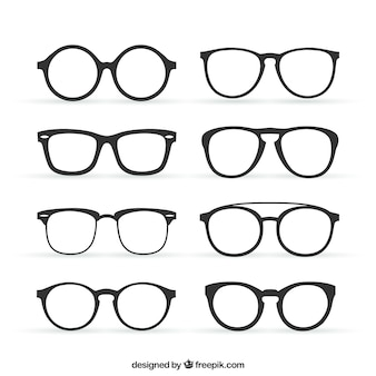 Collection of retro glasses