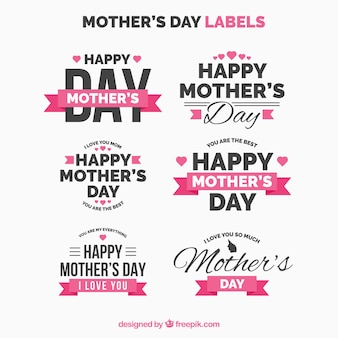 Collection of retro mother day stickers