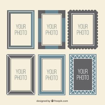 Collection of retro photo frames