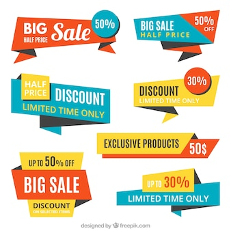 Collection of sale origami stickers