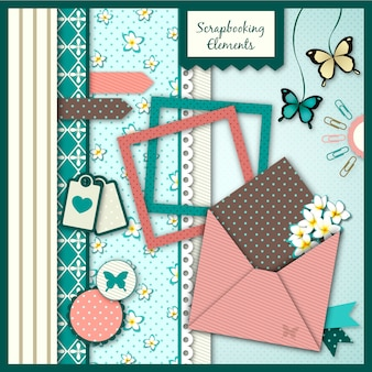 Collection of scrapbooking element