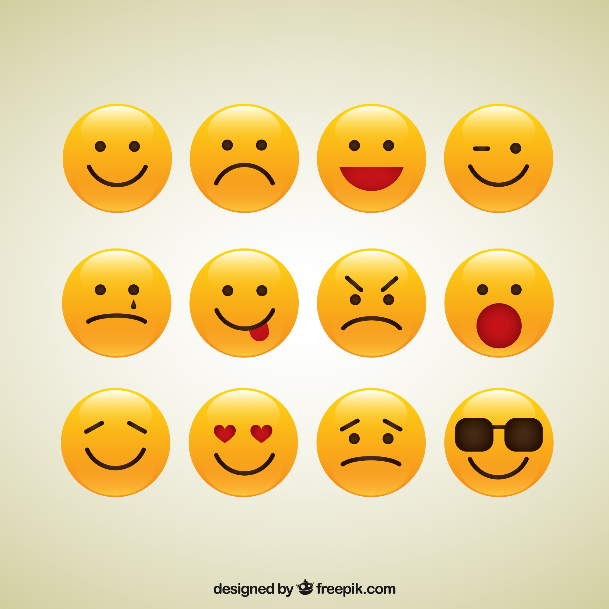 Collection of smiley icons