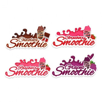 Collection of smoothie labels