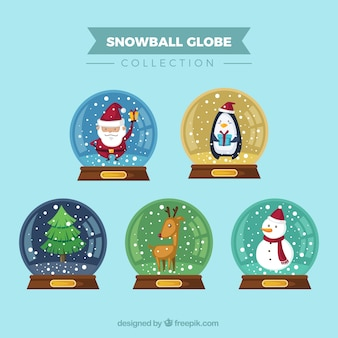 Collection of snowglobe with nice characters