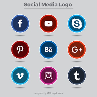 Collection of social network logos