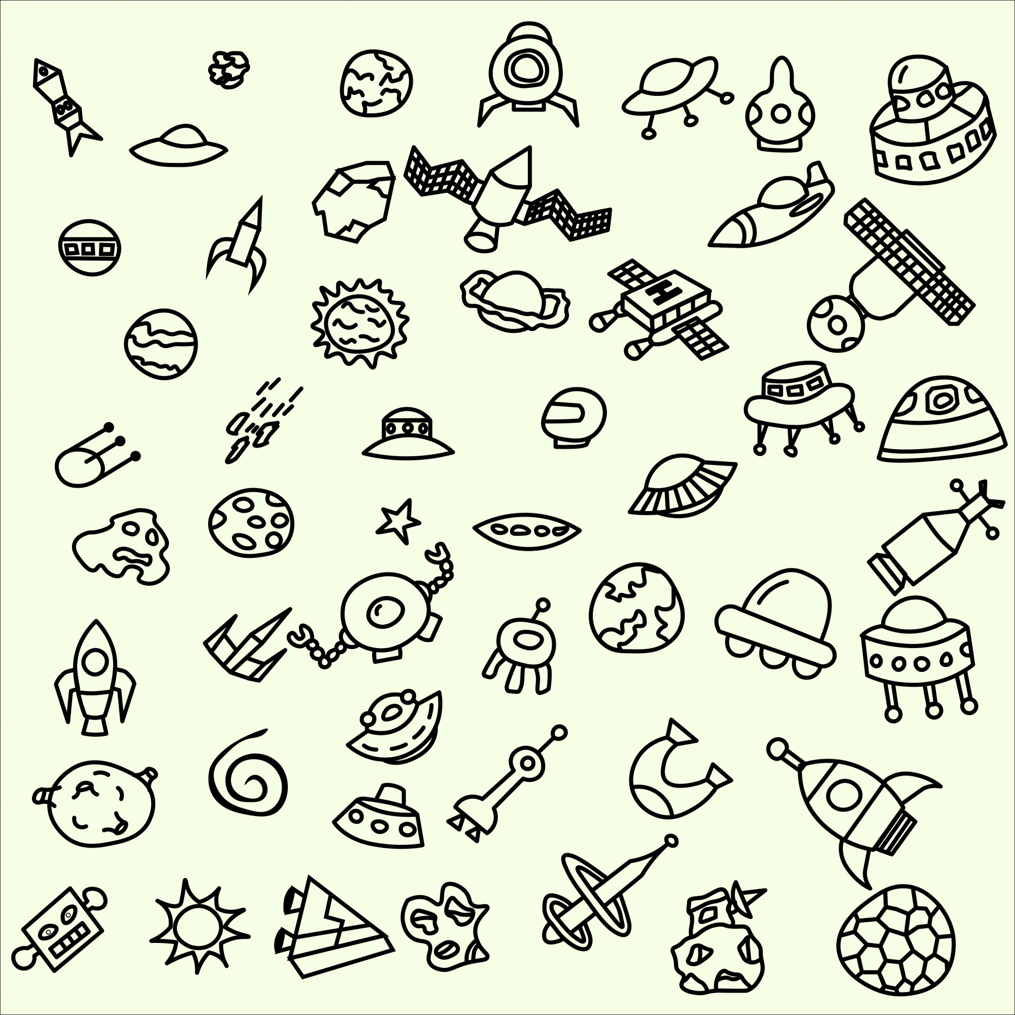 Collection of spacial doodles