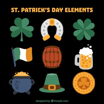 Collection of st. patrick's day items