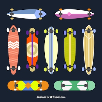 Collection of stylish longboard