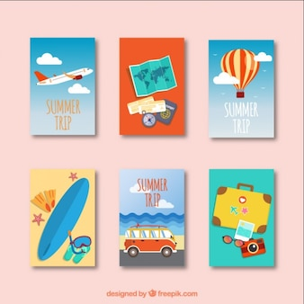 Collection of summer trip card