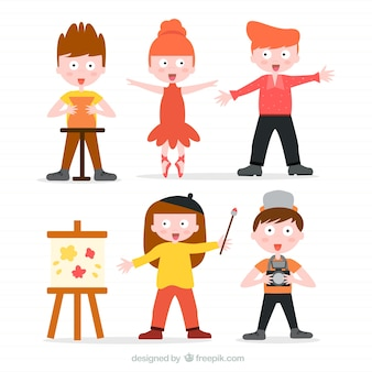 Collection of talented children