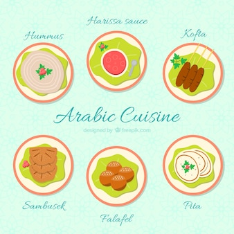 Collection of tasty arabic cuisine