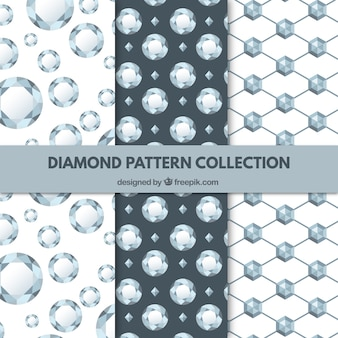 Collection of three diamond patterns