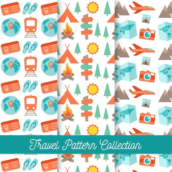 Collection of travel and camping patterns