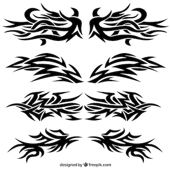 Collection of tribal tattoos