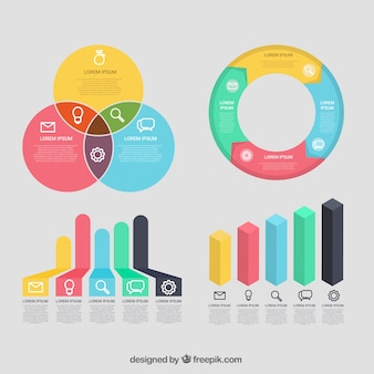 Collection of useful elements ready for infographics