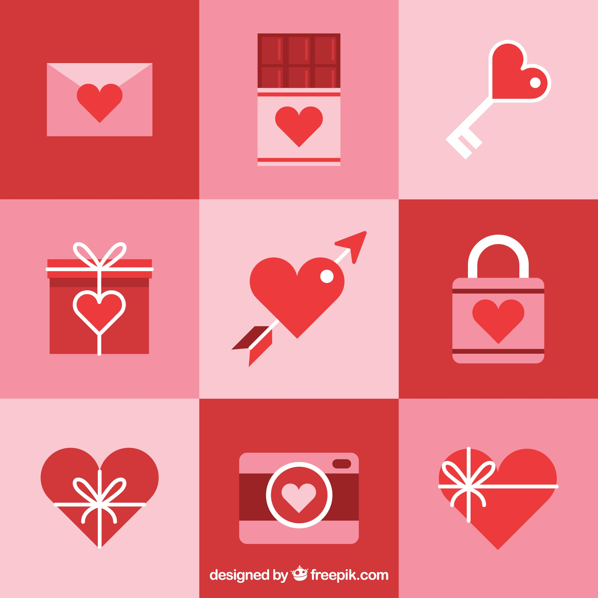 Collection of valentine elements