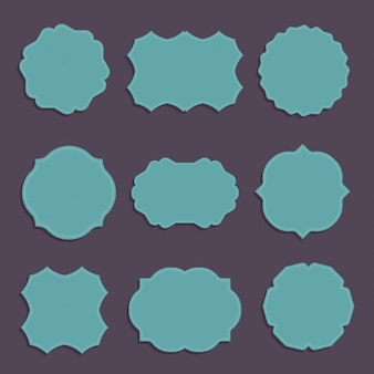 Collection of various shaped stylish labels