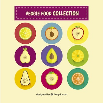 Collection of vegetarian food