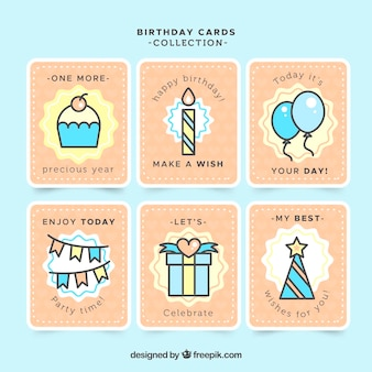 Collection of vintage birthday card