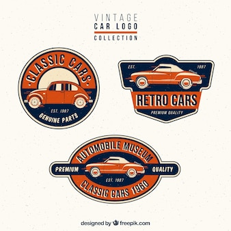 Collection of vintage car logos
