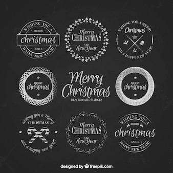 Collection of vintage christmas badges