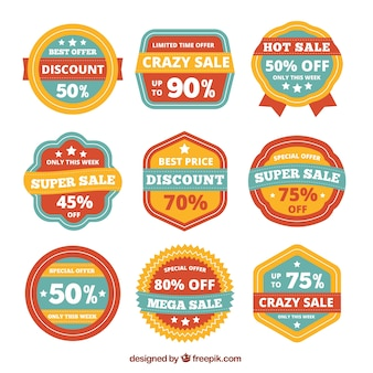 Collection of vintage discount badges
