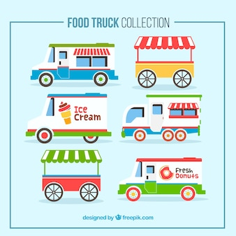 Collection of vintage food truck