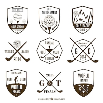 Collection of vintage golf logos