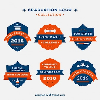 Collection of vintage graduation logos