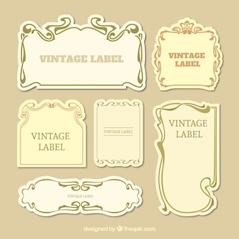 Collection of vintage label