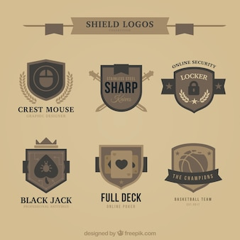 Collection of vintage logos shields