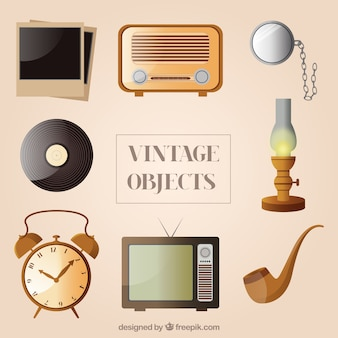 Collection of vintage objects