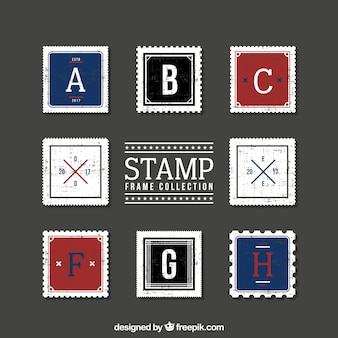 Collection of vintage postage stamp