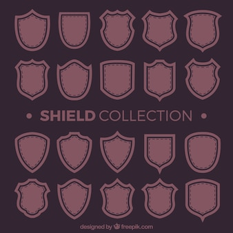 Collection of vintage shields