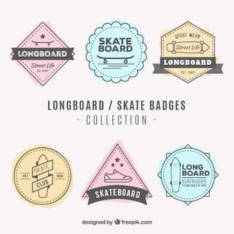 Collection of vintage skate badge