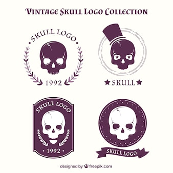 Collection of vintage skull logos