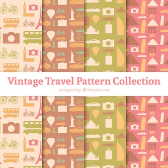 Collection of vintage travel patterns