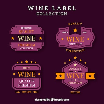 Collection of vintage wine label